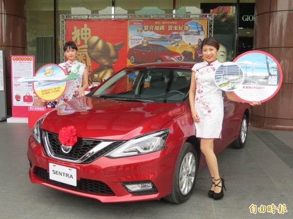 新光三越台中店福袋將送出市價約70萬元的汽車。(記者張菁雅攝)