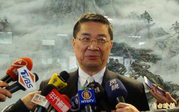 行政院發言人徐國勇說,「內閣沒有要小改組」。(記者陳鳳麗攝)
