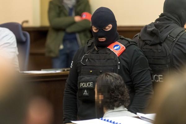 Salah Abdeslam拒絕回答法官提問。(歐新社)