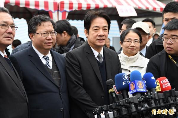 行政院長賴清德(中)強調,不管核二廠二號機未來能否運轉,蔡總統2025年非核家園的目標沒有改變。(記者李容萍攝)(記者李容萍攝)