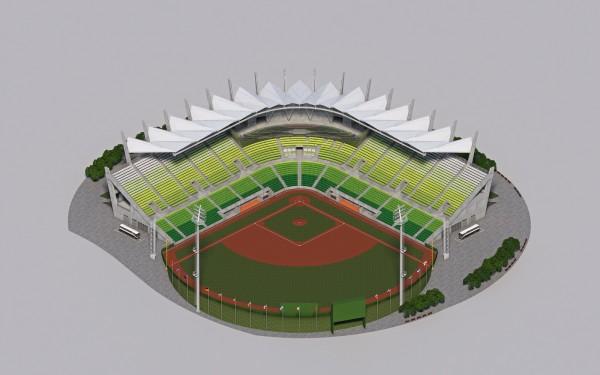 台南亞太國際棒球訓練中心第1期工程模擬圖。(記者洪瑞琴翻攝)