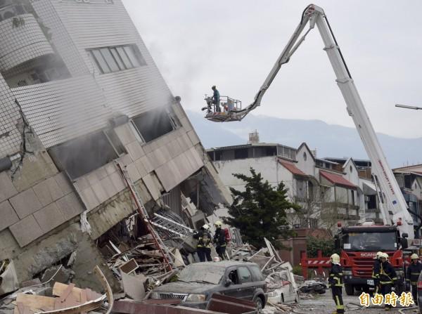 花蓮7級地震重創花蓮縣市。(記者黃耀徵攝)