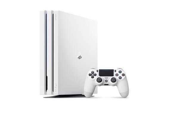 PlayStation 4 pro第一款新色「冰河白」。(台灣索尼互動娛樂提供)