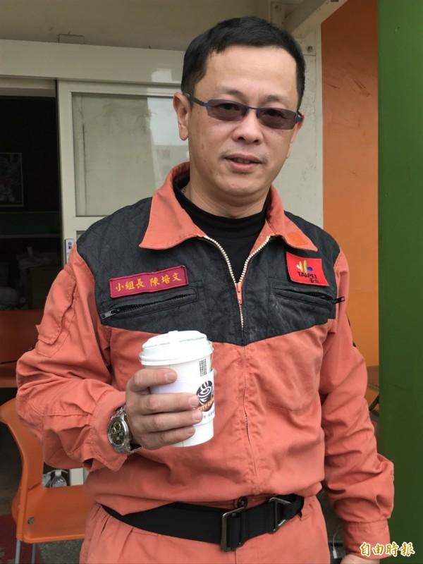 46歲的陳培文是台北義勇特搜隊的小組長,已有22年的搜救經驗。(記者林敬倫攝)