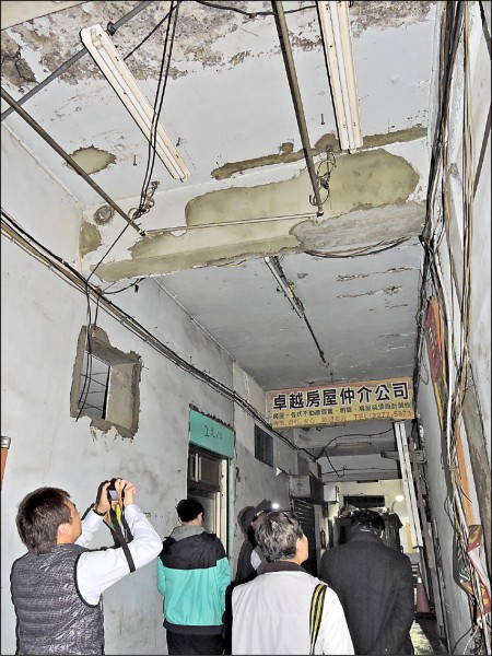 老建物可先針對房屋裂痕及結構系統等兩大問題進行補強,至少減少大地震時 建物倒塌的風險。 (資料照)
