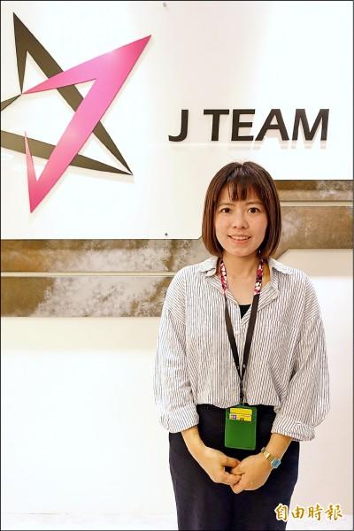 J Team實況總監黃夙蓮,負責帶領並推展杰藝文創的實況部門。(記者陳耀宗攝)