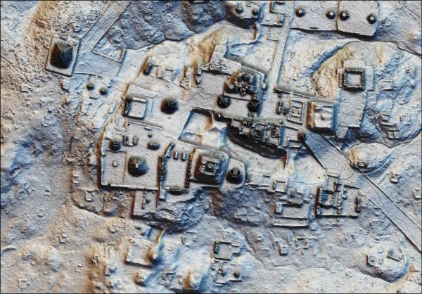 科學家利用光達技術探測到的瓜地馬拉馬雅文明遺跡。(歐新社檔案照)