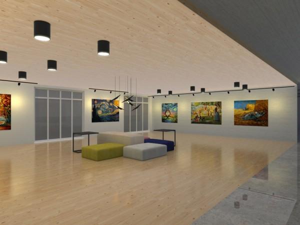 桃園市首座公辦民營文化交流青年旅館,規劃靜態展示區。(青年事務局提供)