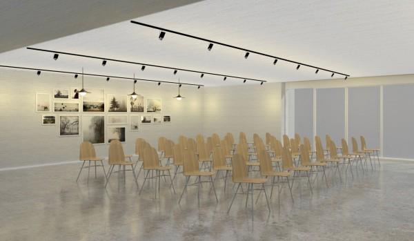 桃園市首座公辦民營文化交流青年旅館,規劃動態展示區。(青年事務局提供)