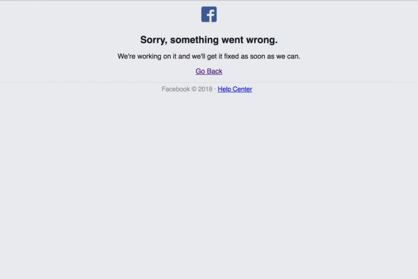 臉書(Facebook)、IG(Instagram )二大社群網站今晚間又傳當機,不少網友指稱兩大社群網站晚間突然無法正常瀏覽。(圖擷自臉書)