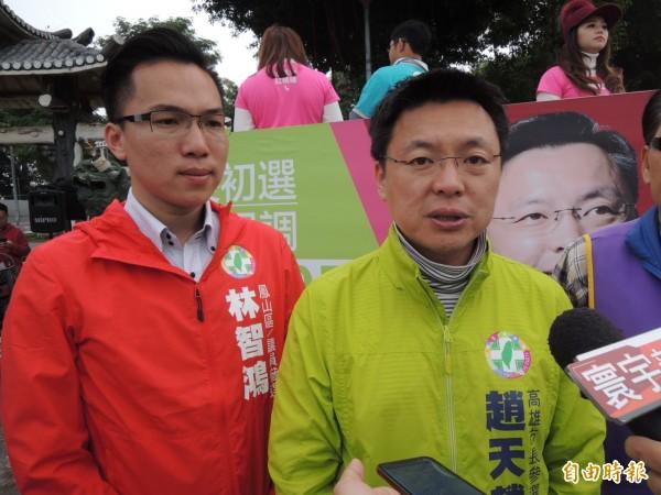 立委趙天麟表示支持內閣改組。(記者王榮祥攝)