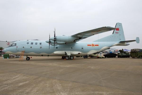 一架疑似由「運-9」運輸機改型的中共偵察機昨日無預警闖入南韓防空識別區。圖為中國空軍運-9運輸機。(圖取自維基百科)