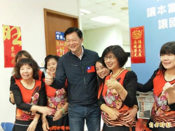周錫瑋說未來當選新北市長的人,要能實踐黨的理念。(記者何玉華攝)