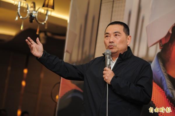 新北市副市長侯友宜辭職宣布參選新北市市長。(記者王藝菘攝)