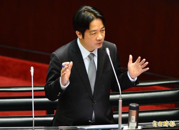 行政院長賴清德今表示,電價會不會漲,台灣已經有一套公式運作,大家不必恐慌。(記者王藝菘攝)
