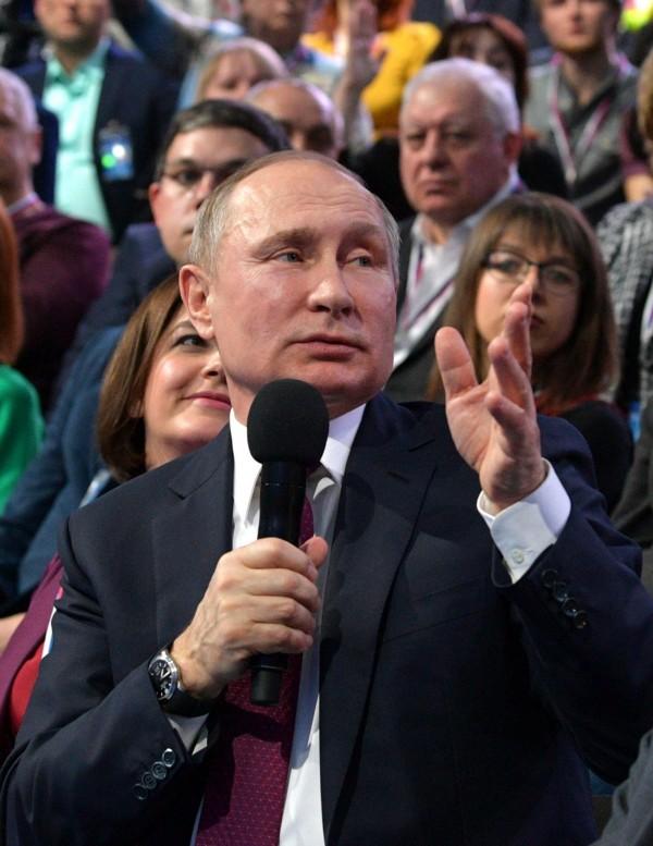 俄羅斯總統普廷受訪被問及,「想改變哪件俄羅斯歷史事件?」,普廷則回應「阻止蘇聯瓦解」。(歐新社)