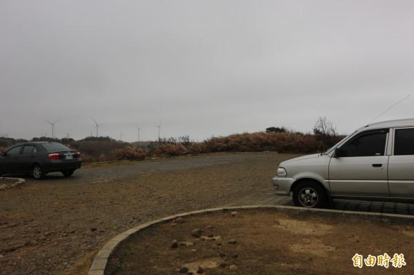 好望角為苗栗縣內著名景點,但附近無合法停車場。(記者鄭名翔攝)
