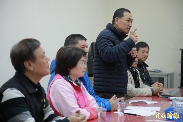 侯友宜說他對黨內初選只有一個期待,就是「黨內不要分裂」。(記者翁聿煌攝)