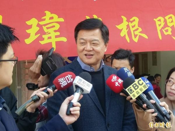 周錫瑋還是對初選辯論有期待。(記者翁聿煌攝)