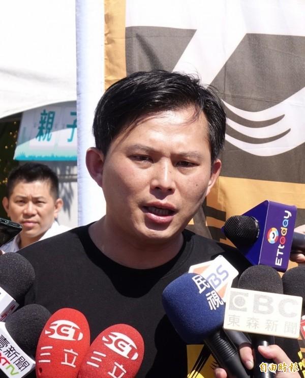 2018廢核遊行11日在凱道舉行,時代力量立委黃國昌出席。(記者方賓照攝)