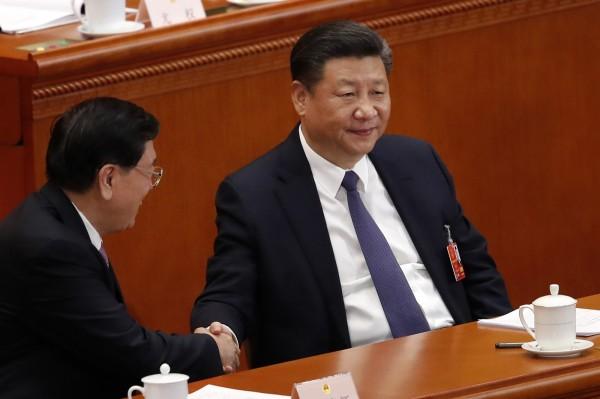 中國人大法工委主任沈春耀表示,修憲刪除國家主席任期限制對中共長治久安、習近平核心集中統一領導相當重要,並認為不會出現政治動盪、權力鬥爭等問題。(美聯社)