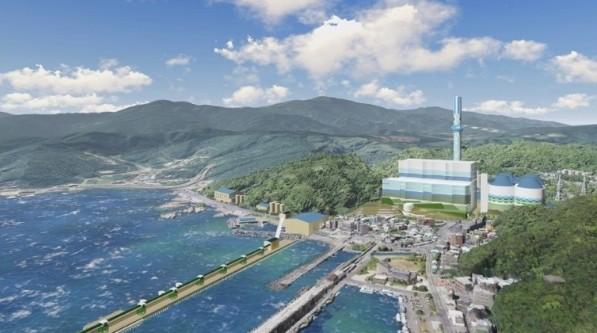 台電深澳電廠更新計畫將於明天環評大會闖關。圖為深澳更新計畫完工示意圖。(台電提供)