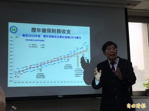 衛福部健保署長李伯璋強調,醫界要避免不必要的浪費,才能夠提高健保給付。(記者林惠琴攝)
