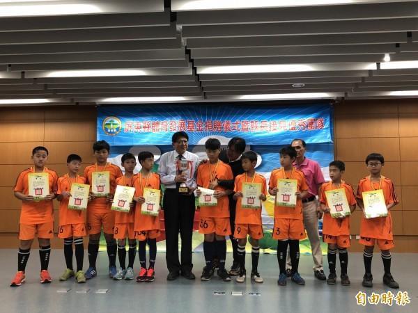 屏東溪北隊是足球勁旅。(記者羅欣貞攝)
