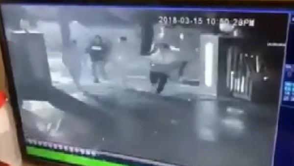 虎尾警方追查到土庫鬧事的男子。(記者廖淑玲翻攝)