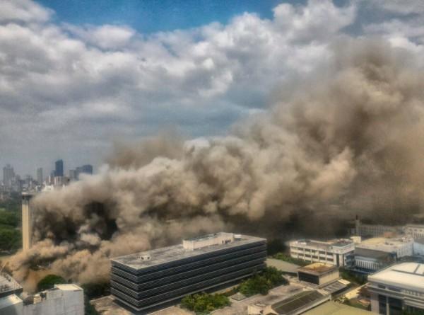 馬尼拉亭閣飯店今早傳出火災,釀成3人死亡、23人受傷的慘劇。(圖擷自twitter)