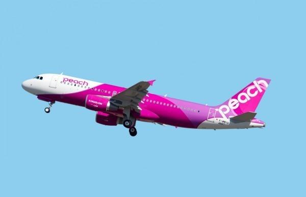 日本航空集團全日空控股(ANA HOLDINGS)今下午召開緊急記者會,宣布旗下廉航樂桃及香草航空將於2019年底合併,圖為樂桃航空。(資料照)