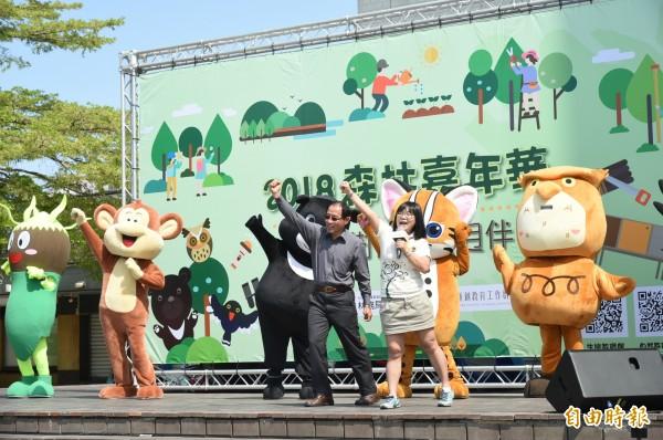 林務局今天在高雄科工館舉辦「森林嘉年華─來作樹仔的葨迌伴」活動。(記者張忠義攝)