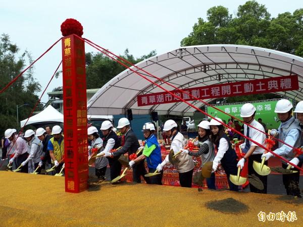 相隔24年,新竹市政府啟動青草湖公辦市地重劃,整合165名地主,透過整理及活化,將重現青草湖昔日風華。(記者洪美秀攝)