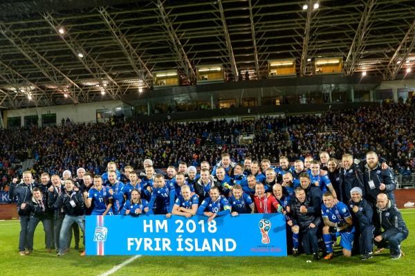 冰島政府決定以外交手段抵制俄羅斯世足賽。圖為冰島國家足球隊。(法新社)