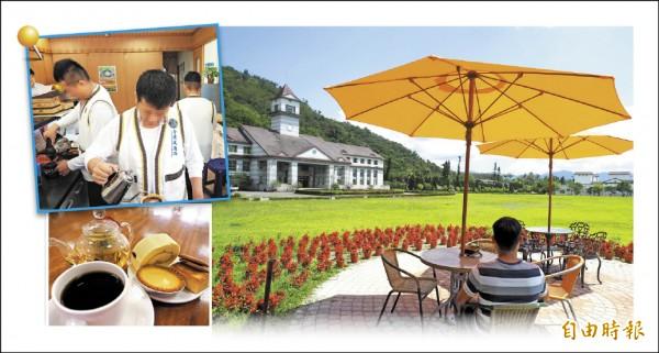 台東戒治所咖啡廳延長營業時間,並在咖啡廳內新設置吧檯,讓收容人有更多發揮的空間。(記者王秀亭攝)