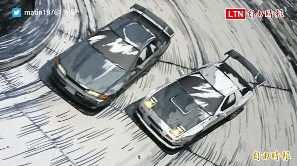 看起來像漫畫一樣的圖片,其實是真的模型車!(授權:matin19761)