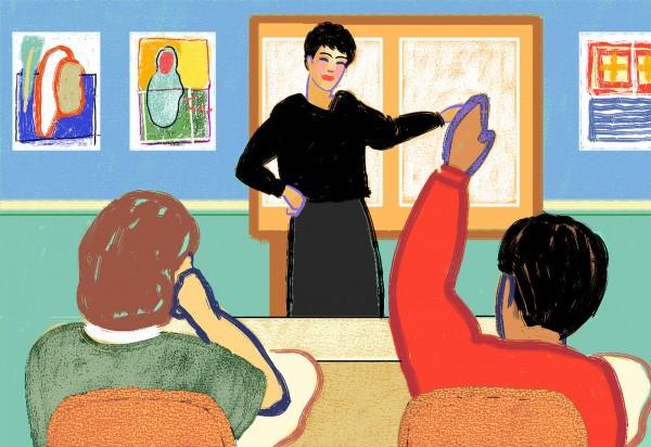 老師在大多數人的印象中有正直、知性的形象,沒想到竟發生這起作弊事件,此為示意圖。(情境照)