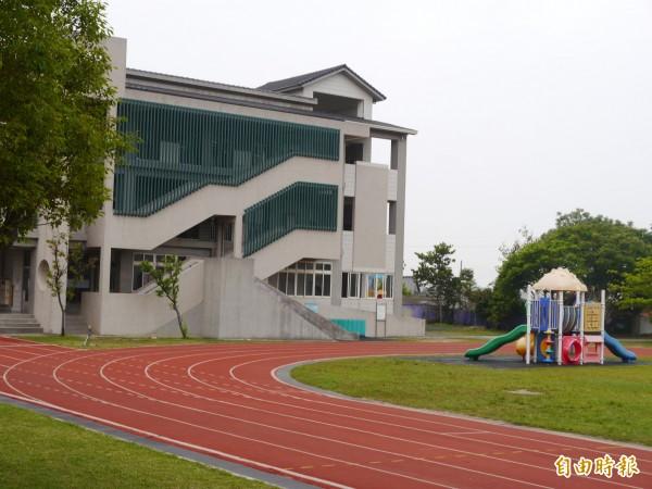 台中市三田國小附設幼兒園發生不當管教事件。(記者張軒哲攝)