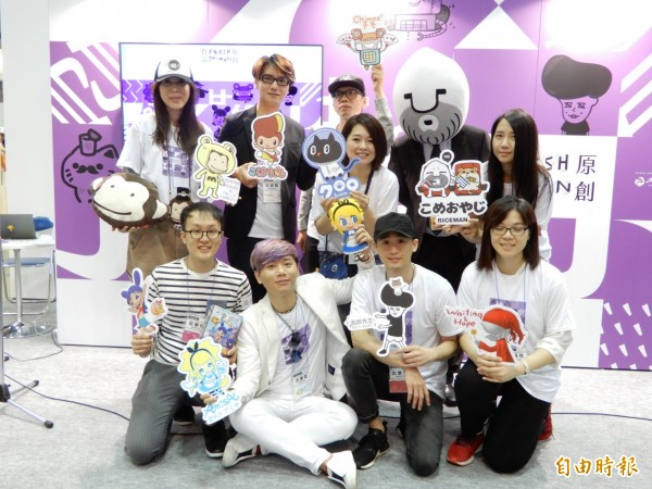 台灣9家原創角色品牌,4日起在「日本授權展」的「Fresh Taiwan台灣原創館」展出。(記者林翠儀攝)