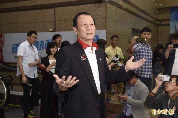 國民黨6日公布新北市長初選結果,圖為金介壽。(記者叢昌瑾攝)