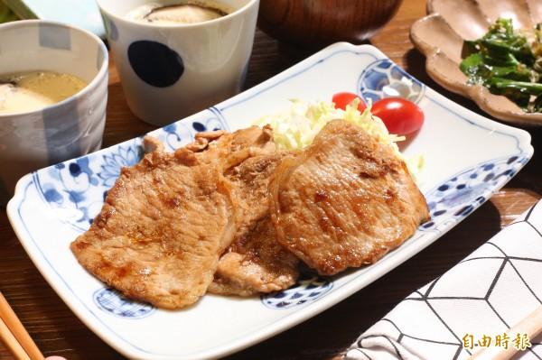 只要簡單4步驟,薑汁豬肉就能輕鬆上桌。(記者沈昱嘉攝)