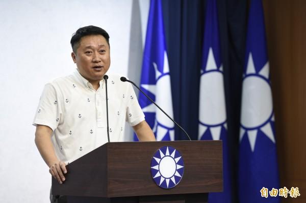 國民黨組發會主委李哲華,6日公布新北市長初選結果。(記者叢昌瑾攝)