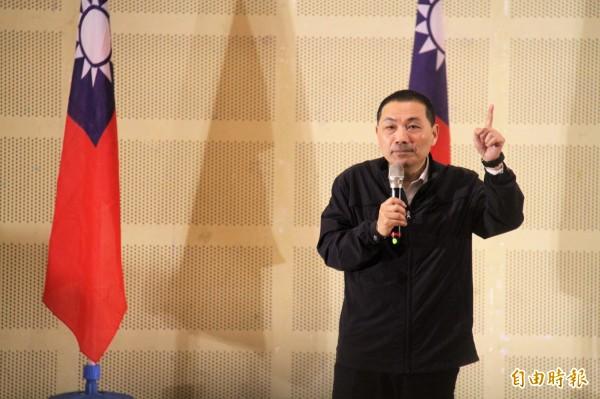 國民黨新北市長黨內初選,由侯友宜勝出代表藍營參選,他希望重新創造讓人民信賴的國民黨。(資料照)