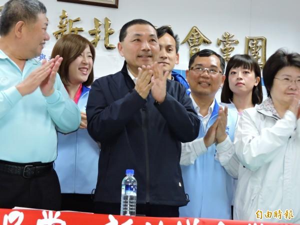 前新北市副市長侯友宜初選勝出,將代表國民黨參選2018新北市長。(記者賴筱桐攝)