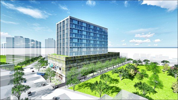 台南開元綜合交通中心模擬圖。 (記者洪瑞琴翻攝)