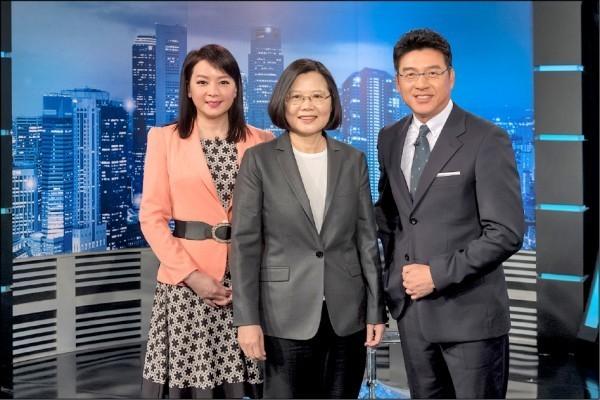 蔡英文先前接受年代電視專訪,這兩天並陸續播出。(年代新聞提供)