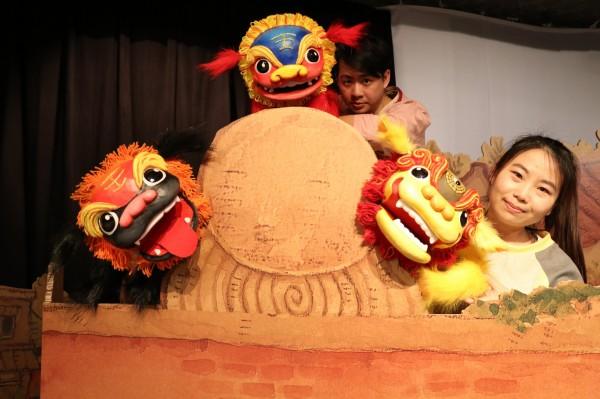信誼基金會將本土圖畫書《劍獅出巡》改編成兒童劇,本週六日將躍上親子舞台。(信誼基金會提供)