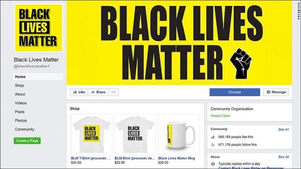 疑似由澳洲全國工會(NUW)總支部副主席易恩.馬凱(Ian Mackay)經營的「黑人的命也是命」(BLM)冒牌臉書粉絲專頁。(取自網路)