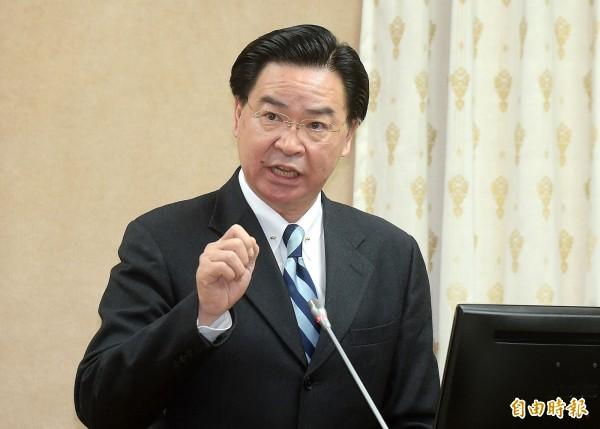 外交部長吳釗燮今天在立法院答詢時說,我方參與WHA或是世衛組織(WHO)的重要前提是「台灣不被矮化」。(資料照)
