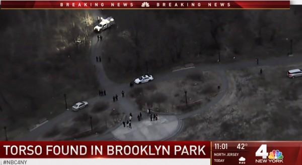 美國紐約布魯克林區東部的公園,日前發現一具遭斬斷4肢的裸體女屍。(圖片擷取自NBC紐約網站)